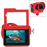 PULUZ Housing Shell Case CNC Aluminum Alloy Protective Cage with Insurance Frame & 52mm UV Lens for GoPro HERO5 (Red)