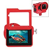 PULUZ Housing Shell Case CNC Aluminum Alloy Protective Cage with Insurance Frame & 52mm UV Lens for GoPro HERO6/ 5 New HERO (2018)(Red)