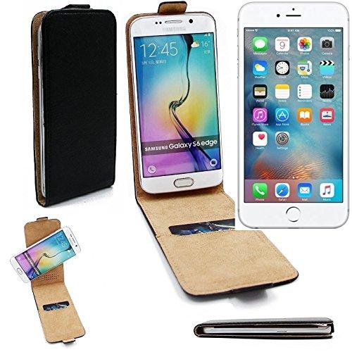 Case Smartphone Cover Flip Style pour Apple iPhone 6s Plus 360°, noir, couvercle rabattable - K-S-Trade (TM)