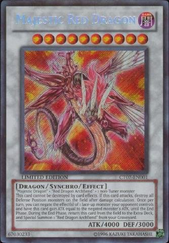 Crimson Dragon (Yu-Gi-Oh! - Majestic Red Dragon (CT07-EN001) - 2010 Collectors Tin - Limited Edition - Secret)