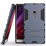 Heartly Xiaomi Mi Mix Back Cover Graphic Kickstand Hard Dual Rugged Armor Hybrid Bumper Case - Navy Black