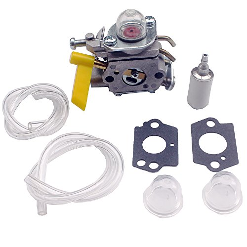 KIPA Carburetor kit for 25cc 26cc 30cc Homelite Ryobi Craftsman Poulan Brushcutter Blower String Trimmer # 308054013 308054012 308054004 308054008 Replace ZAMA C1U-H60 (Homelite Carburetor)