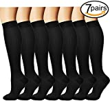 #5: 7 Pairs Compression Socks For Women and Men - Best Medical,for Running, Athletic, Varicose Veins, Travel.