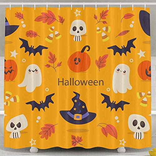 CYCY Halloween 2 Shower Curtain,Waterproof Polyester Shower Curtain Sets for -