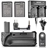 Neewer® Professional Vertical Infrared Remote Control Battery Grip + Dual-Channel Battery Charger for Sony NP-FW50 Batteries + 2-Pack 1030mAh NP-FW50 Replacement Batteries for Sony A6000