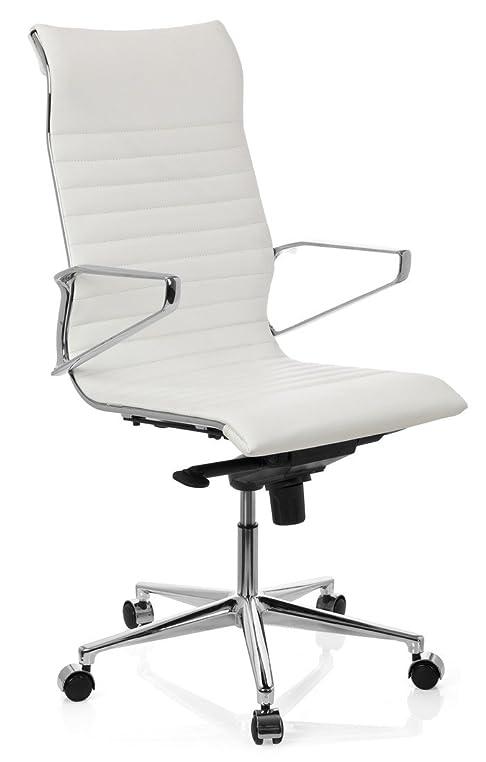Ergonomischer bürostuhl weiß  hjh OFFICE 720024 Bürostuhl Chefsessel Pariba I Leder weiß, hohe ...