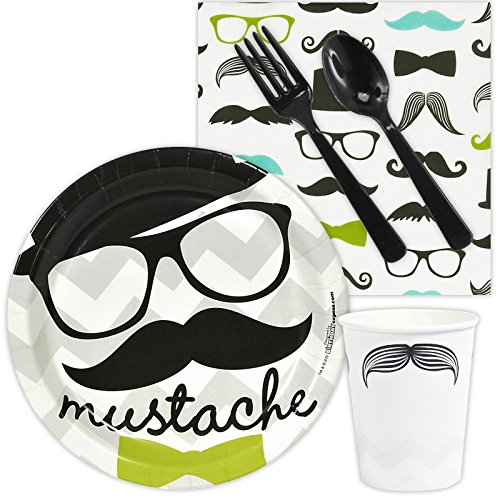 BirthdayExpress Mustache Man Party Supplies - Snack Party