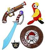 PeeNoke Toy 5 Pieces Pirate Costume Accessory Toy Set