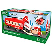 BRIO World 33886 - Cargo Helicopter - Vehicle Toy Wooden Train Toy