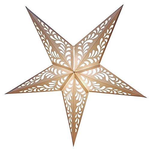 Happy Sales HSSL-FRANWH Rain Paper Star Lantern White,
