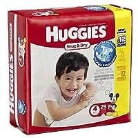 Huggies Baby Diapers, Snug & Dry, Size 4 (22 - 37 lbs) 29ct