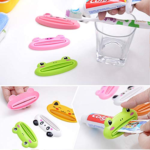 LOVEINUSA 10Pcs Toothpaste Tube Squeezer,3.5inch Animal Toothpaste Squeezer Tube Squeezer Toothpaste Clip for Extruding Toothpaste Facial Washing Milk Tomato Sauce and Other Tubular Items