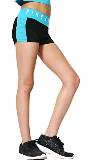 Pineapple Dancewear GIRLS dancers hot pants//shorts Black with Pineapple logo
