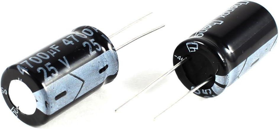 XZANTE 2 pzs 4700uF 25V 105C Condensadores electroliticos radiales Negro 26x16mm