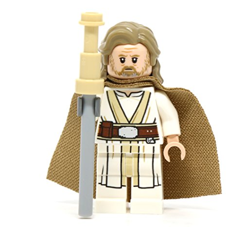 LEGO Star Wars: The Last Jedi - Old Luke Skywalker Minifigure (2018) - Lego Luke Skywalker