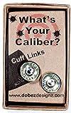 45 Colt Cuff Links Brass Finish with Swarovski Crystals (Sig)
