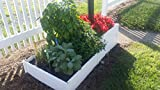 Handy bed 2 x 2 Stack-able, White, Vinyl, Raised Garden Bed Review