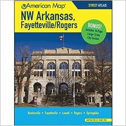 Nw Arkansas Fayetteville Rogers Ar Atlas American Map Corporation