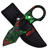 Fixed Knife Blade, Skull Camo Green Tactical, with Sheath. Use Hunting, Camping, Fishing, Skinning or Survival. Best 440 Stainless Steel, Small, Compact Tanto. Limited Availability. For Sale