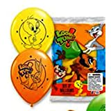 6 LOONEY TUNES LATEX BALLOONS Kids Birthday Party Decorations & Party Supplies