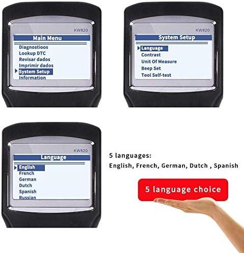 Lettore di codice difetto Car OBD2 Diagnostic Tool OBDII EOBD KW820 Lettore di Codice dal vivo Scan Tools Supportano pi/ù lingue