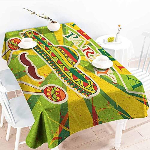 familytaste Fiesta,Wholesale tablecloths Sprites with Sombrero Maracas Mustache Mexican Hand Drawn Illustration 54