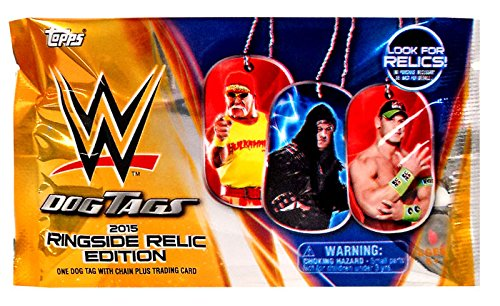 Wwe Dog Tags (WWE Wrestling 2015 Ringside Relic Edition 2015 Ringside Relics Dog Tags Pack)