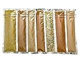 #5: Organic Spice Seasoning Sampler Gift Set with 7 Salt Free Spice Blends: Chicago Steak, Chili, Creole, Curry, Garlic & Herb, Lemon Pepper, Taco (Basic Blends - No Sodium, No Salt, No Sugar)