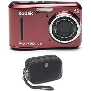 "Kodak PIXPRO Friendly Zoom FZ43 16 MP Digital Camera with 4X Optical Zoom and 2.7"" LCD Case Bundle"