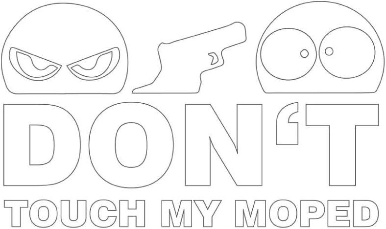 Don T Touch My Moped Aufkleber Sticker Jdm Motorrad Weiß Ca 11x7 Cm Simson Bike Classic Oldtimer Auto