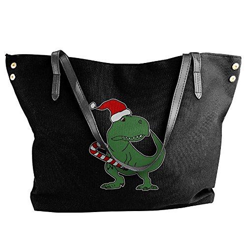 Rex Bags Black Christmas Tote Handbag Large Shoulder Canvas Women's Messenger T SzOYUqw4w