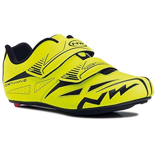 NORTHWAVE Chaussures velo route homme JET EVO jaune fluorescent