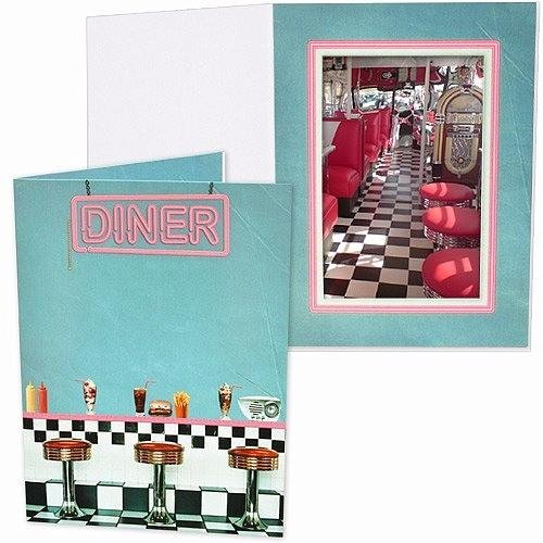 Our Vintage 1950's DINER Photo Event Folder Our price is for 25 units - 4x6 by SendAFrame