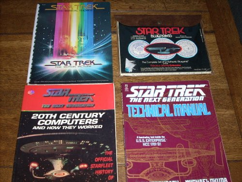 Star Trek Collection - Star Trek Enterprise Blueprints (Set of 12), Star Trek The Musical Themes from the Motion Picture, The Next Generation 20th Century Computers and How They Worked, Next Generation Technical Manual (Inside NCC 1701-D). -