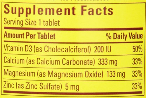 031604018931 - Nature Made Calcium Magnesium Zinc Tablets with Vitamin D, 300 Count carousel main 1