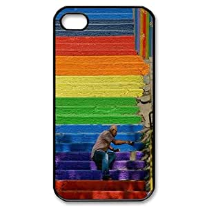 UNI-BEE PHONE CASE For Iphone 4 4S case cover -Colorful Rainbow Pattern-CASE-STYLE 11