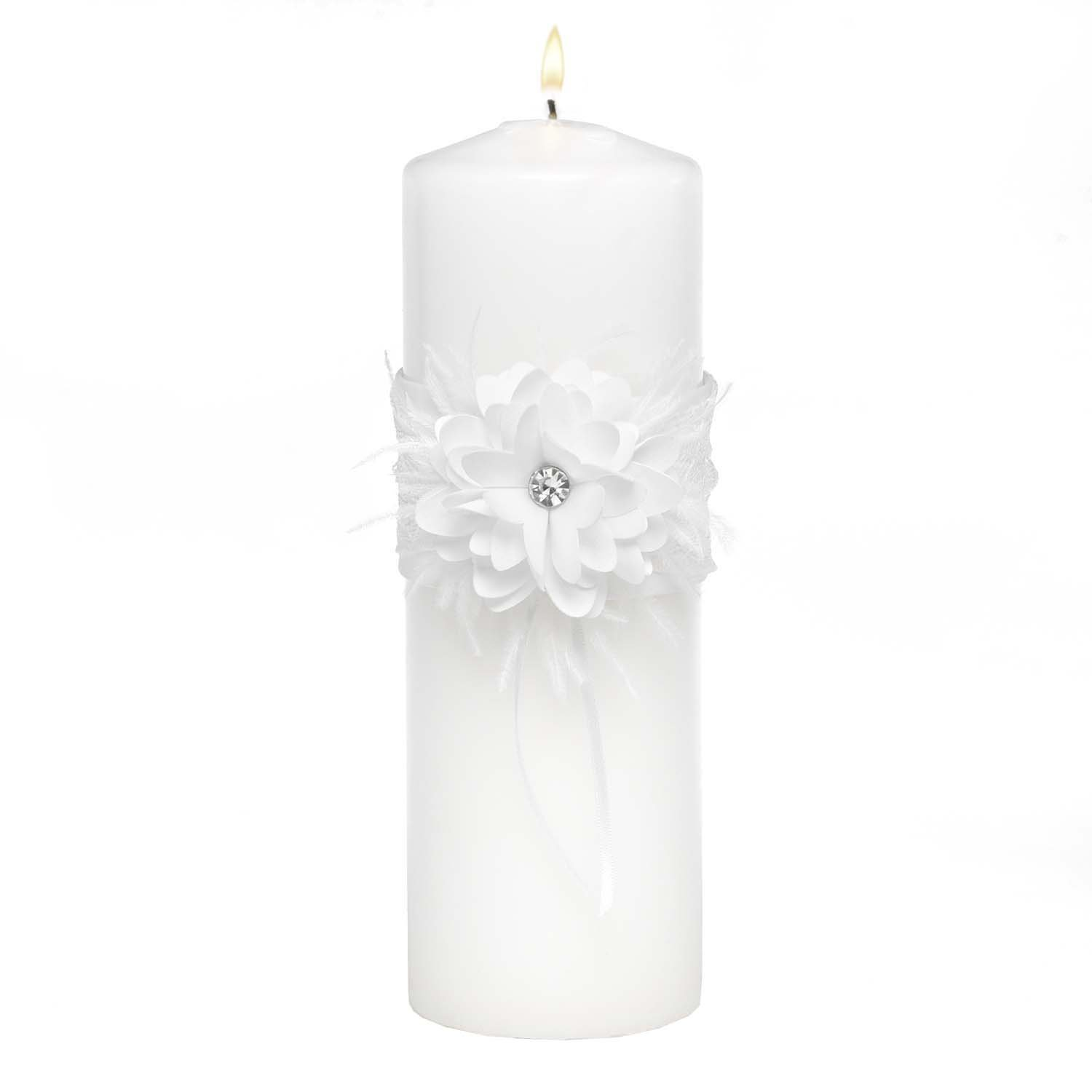 Hortense B. Hewitt Layers of Lace Unity Candle 24428