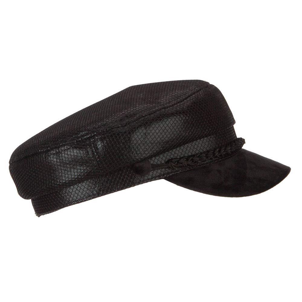 7c0290bb4 SS/Hat Two Tone Metallic and Velvet Greek Fisherman Cap - Black OSFM ...