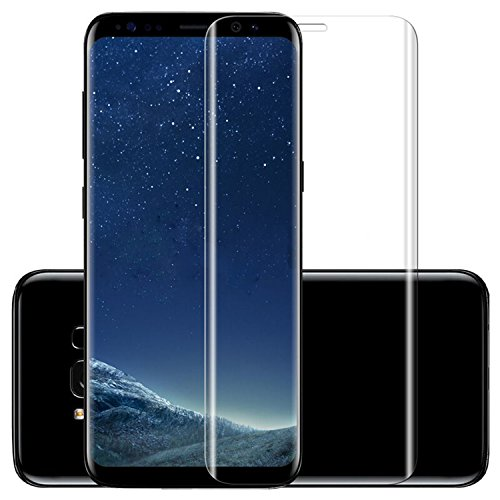 ASLING Galaxy S8 Screen Protector, 3D Tempered Glass Screen Protector with 9H Hardness Full Coverage Ultra HD Clear Anti-Bubble Scratch Proof Military Grade Screen Cover (TRANSPARENT)