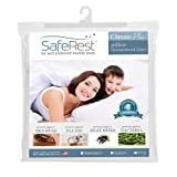 Queen Size SafeRest Classic Plus Hypoallergenic 100% Waterproof Pillow Encasements - Vinyl, PVC, and Phthalate Free - Includes Set of Two
