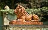 Campania International A-405-FR Classic Lion Statue, Ferro Rustico Finish For Sale