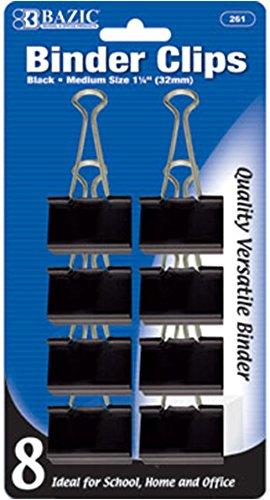 1 1/4'' (32mm) Black Binder Clips 144 pcs SKU# 1930471MA