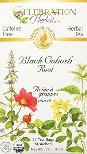 Black Cohosh Root Tea Bag - Celebration Herbals Black Cohosh Root Tea, Organic, 24 Teabag