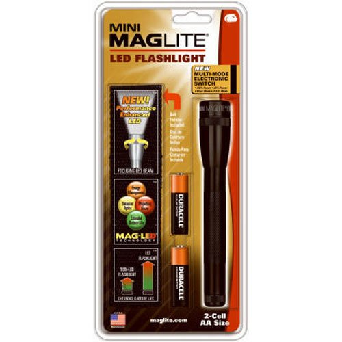 Maglite Mini LED 2-Cell AA Flashlight with Holster, - Maglite Mini Flashlight Aa