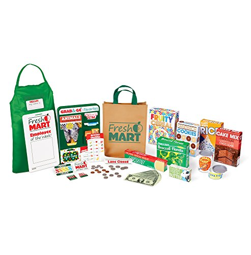 Melissa & Doug Fresh Mart Grocery Store Food and Role Play Companion Set (84 Pcs) Toy