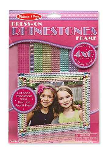 Melissa & Doug Press-On Jewels Rhinestone Picture Frame (Great Gift for Girls and Boys - Best for 5, 6, 7, 8, 9 Year Olds and Up) (Picture Frames Children)