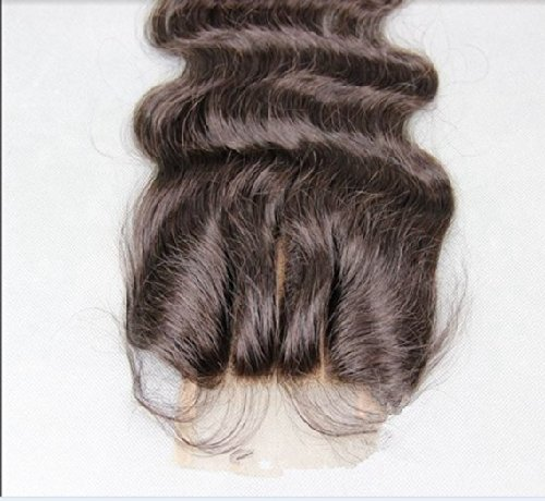 """3 Part 44 Lace Front Top Closure 14"""" Peruvian Virgin Remy Hair Body Wave Trademark:Hairpr"""