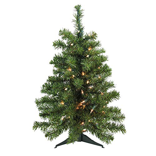 (Darice 3' Pre-Lit Natural Two-Tone Pine Artificial Christmas Tree - Clear Lights)