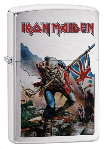 Zippo Iron Maiden Brushed Chrome Lighter