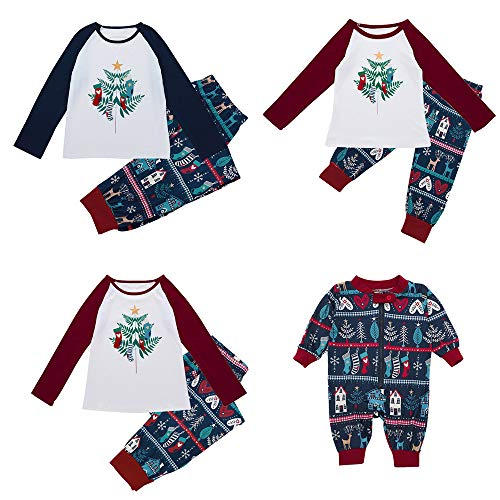 Family Matching Pajamas Pajama Set for Women Family Matching Swimwear,Family Christmas Pajamas Set Family Matching Pjs for Christmas Pajama Pants Men,❤Navy❤Baby,❤Size:12 Months -